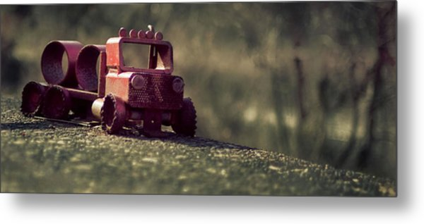 Little Engine That Could Metal Print