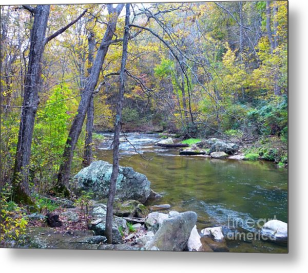 Little Falls Of Autumn Metal Print