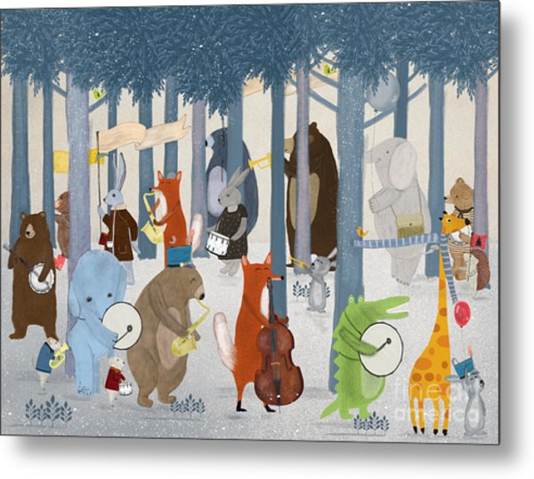 Little Nature Parade Metal Print by Bri Buckley