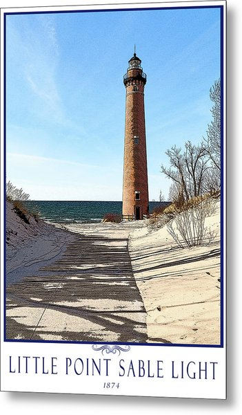 Little Point Sable Light Poster Metal Print by Fran Riley