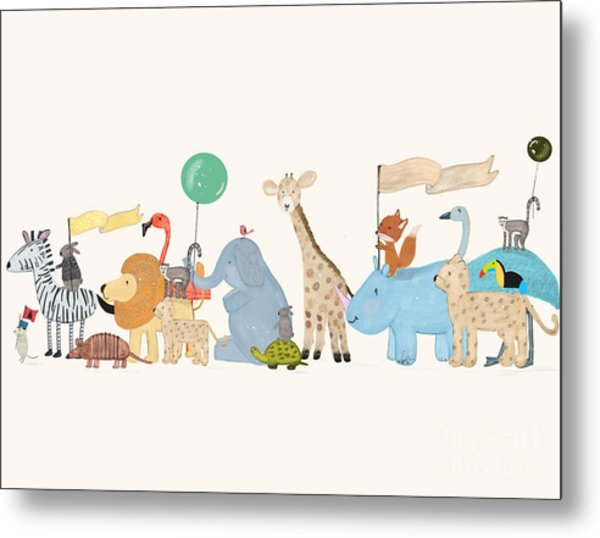 Little Safari Parade Metal Print by Bri Buckley