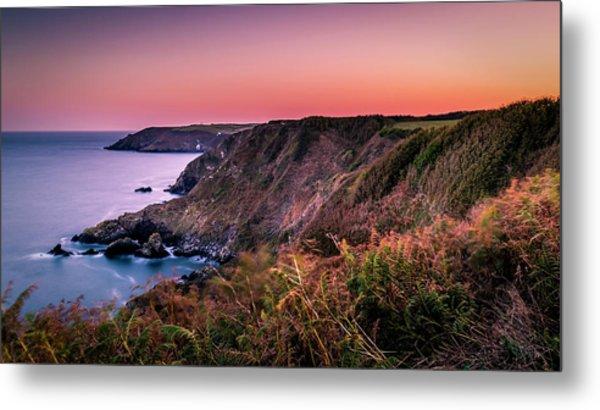 Lizard Point Sunset - Cornwall Metal Print