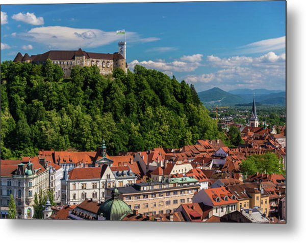 Ljubljana Slovenia Metal Print by Keith Mcinnes Photography