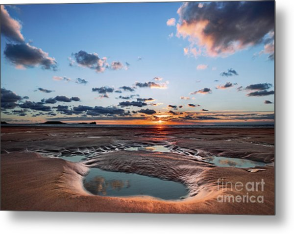 Llangennith Beach Metal Print