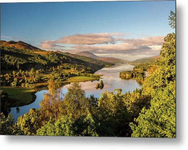 Loch Tummel Sunrise, Queen's View Metal Print by David Ross
