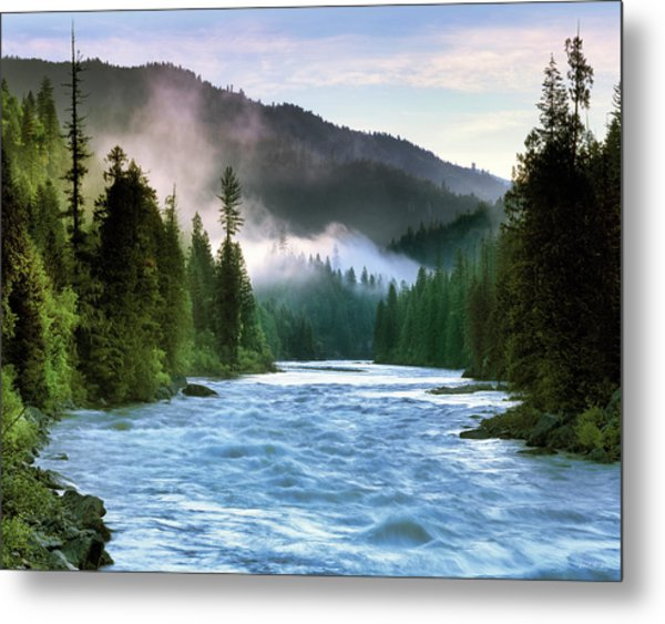 Lochsa River Metal Print by Leland D Howard