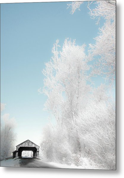 Metal Print featuring the photograph Lockport Covered Bridge 2 by Michael Arend