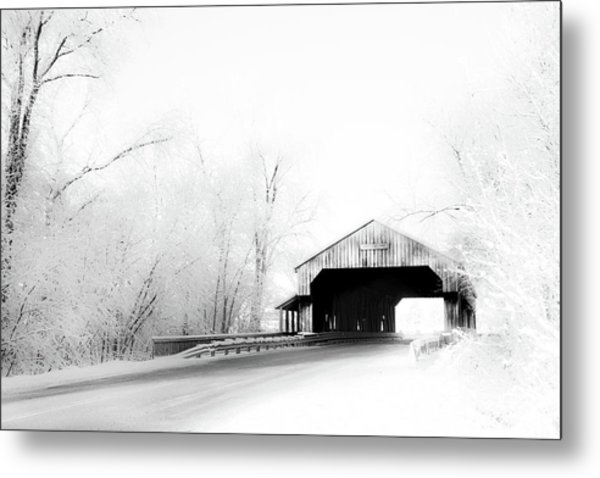 Metal Print featuring the photograph Lockport Covered Bridge by Michael Arend