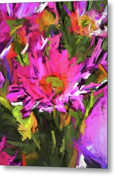 Lolly Pink Daisy Flower Metal Print