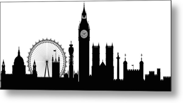 London Buildings Are Detailed, Complete Metal Print by Leontura