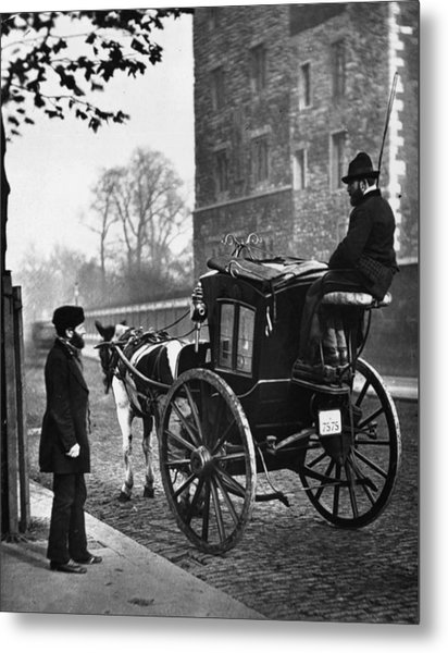 London Cabmen Metal Print by John Thomson