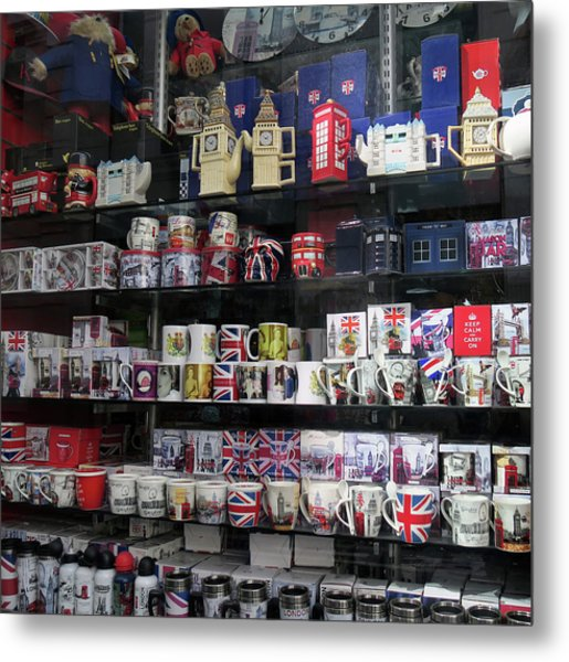 London England Shop Window Metal Print
