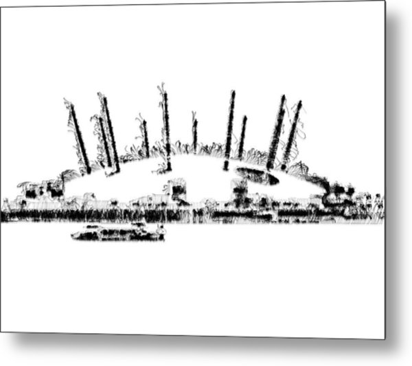 London O2 Arena Metal Print