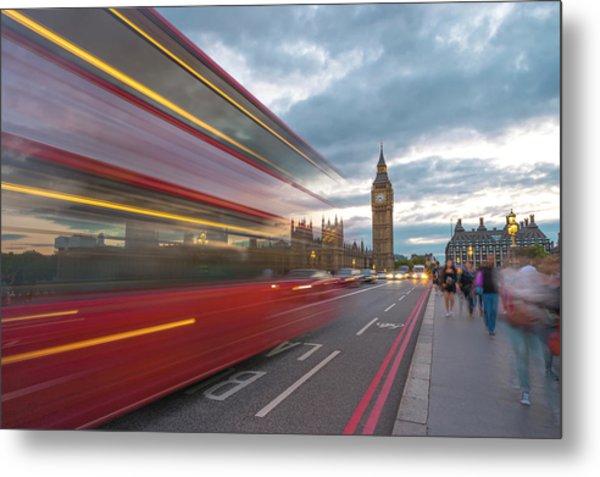 London Rush Hour Metal Print by Rob Maynard