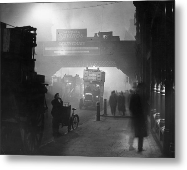 London Smog Metal Print by Topical Press Agency