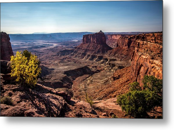 Metal Print featuring the photograph Lonely Butte by David Morefield
