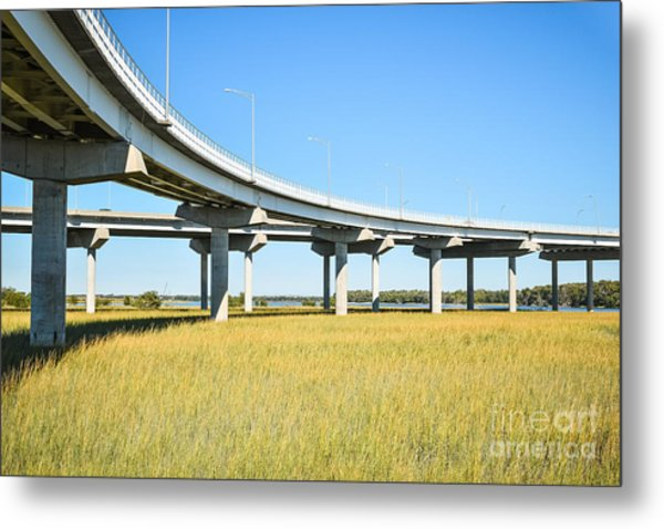 Long Concrete Bridge  Metal Print
