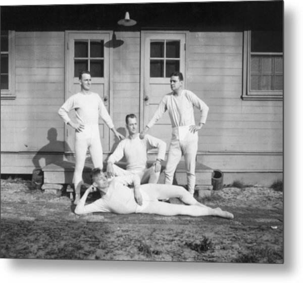 Long Johns On Metal Print by Archive Photos