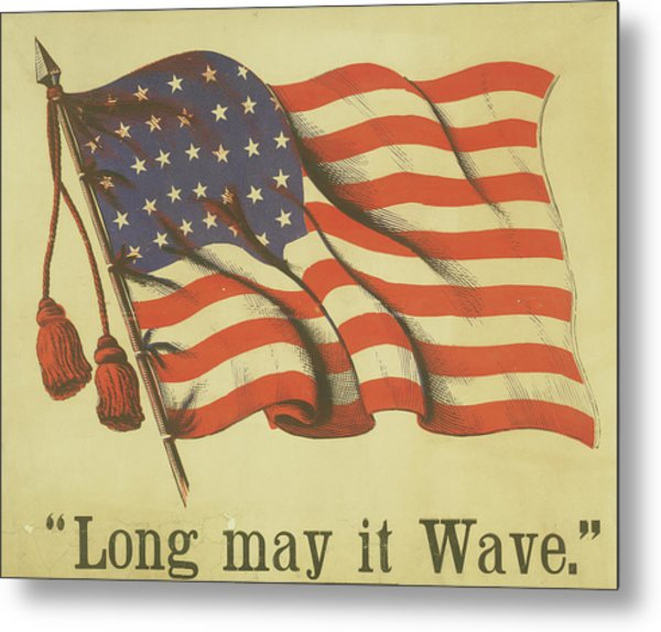 Long May It Wave Metal Print