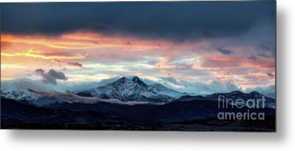 Longs Peak At Sunset Metal Print