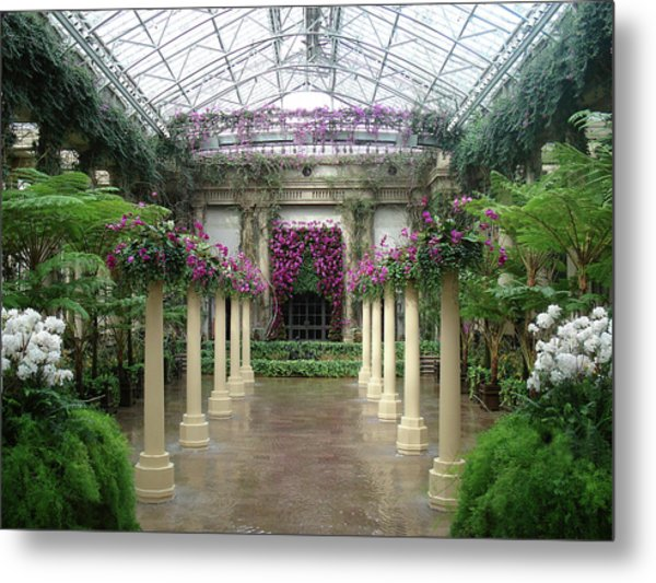 Longwood Conservatory Metal Print