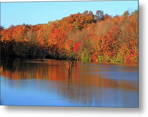 Metal Print featuring the photograph Looking Out Over Alum Creek by Angela Murdock