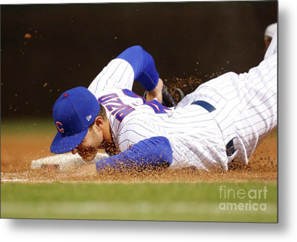 Los Angeles Dodgers V Chicago Cubs Metal Print