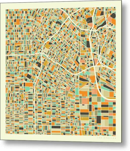 Los Angeles Map 1 Metal Print