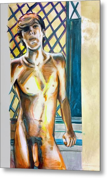 Metal Print featuring the painting Lost Summer Love  by Rene Capone