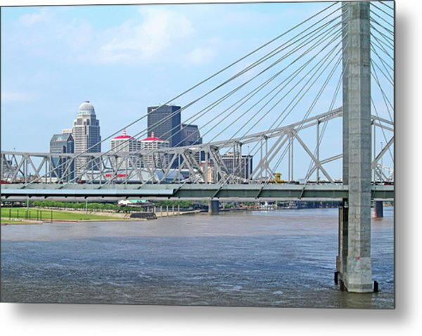 Louisville Across The River Metal Print