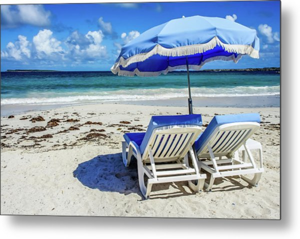 Metal Print featuring the photograph Lounging On Orient Beach, St. Martin by Dawn Richards