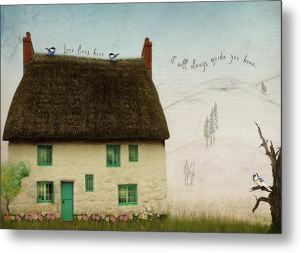 Love Lives Here Metal Print by Norma Slack
