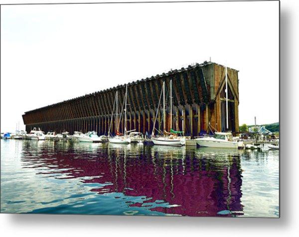 Lower Harbor Ore Dock At Marquette Michigan. Metal Print