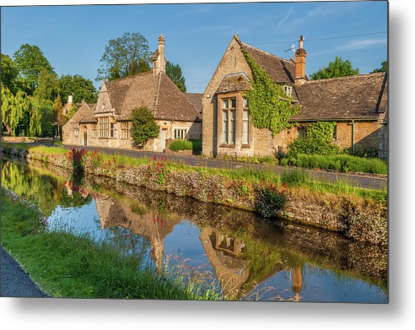 Lower Slaughter And The River Eye Metal Print by David Ross