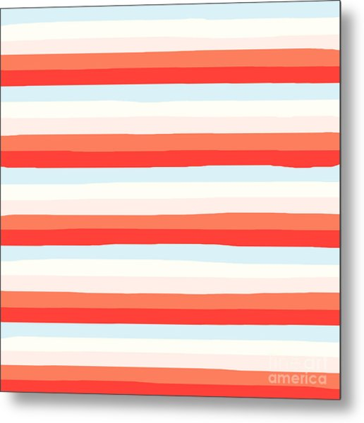 lumpy or bumpy lines abstract and colorful - QAB266 Metal Print