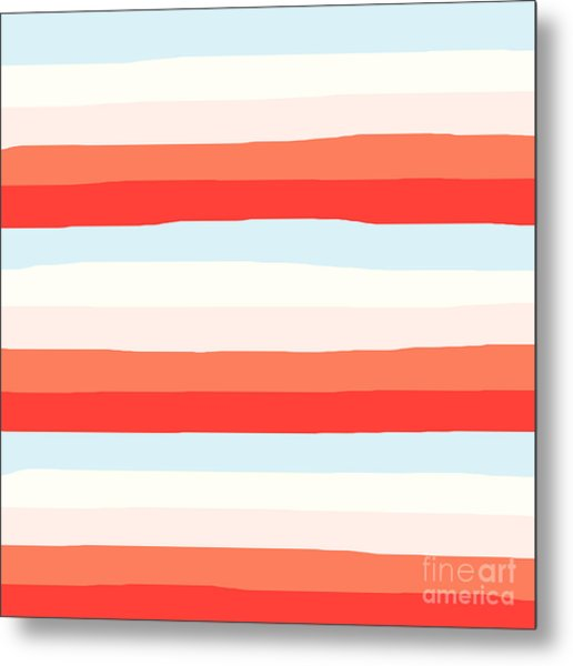 lumpy or bumpy lines abstract and colorful - QAB268 Metal Print