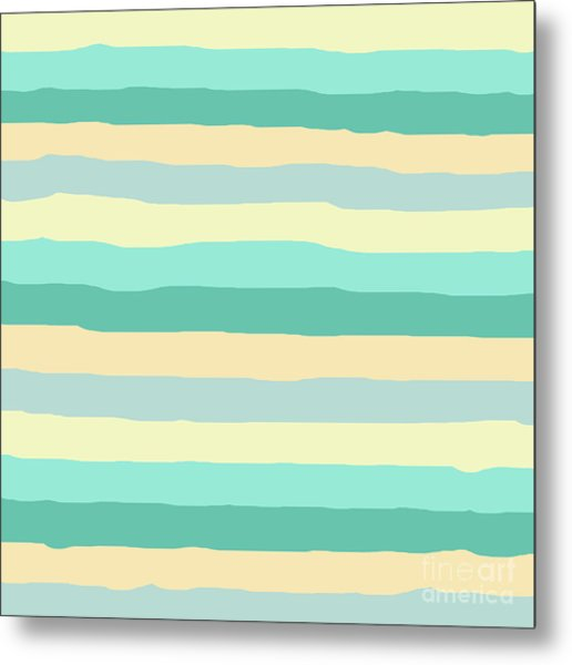 lumpy or bumpy lines abstract and summer colorful - QAB271 Metal Print