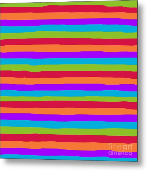 lumpy or bumpy lines abstract and summer colorful - QAB273 Metal Print