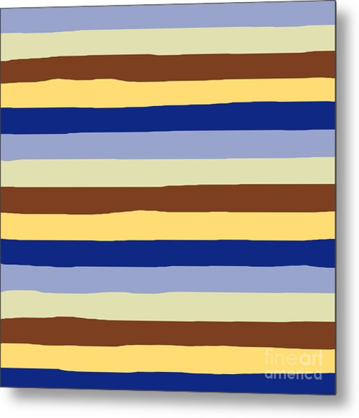 lumpy or bumpy lines abstract and summer colorful - QAB277 Metal Print