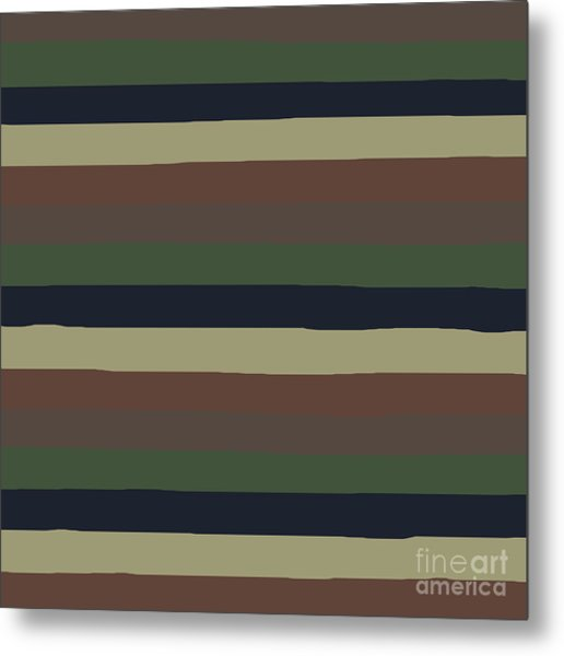 Army Color Style Lumpy Or Bumpy Lines - Qab279 Metal Print