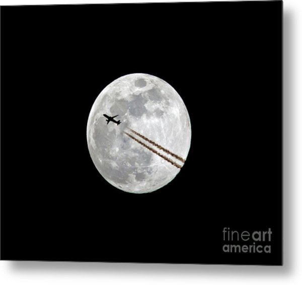 Lunar Photobomb Metal Print