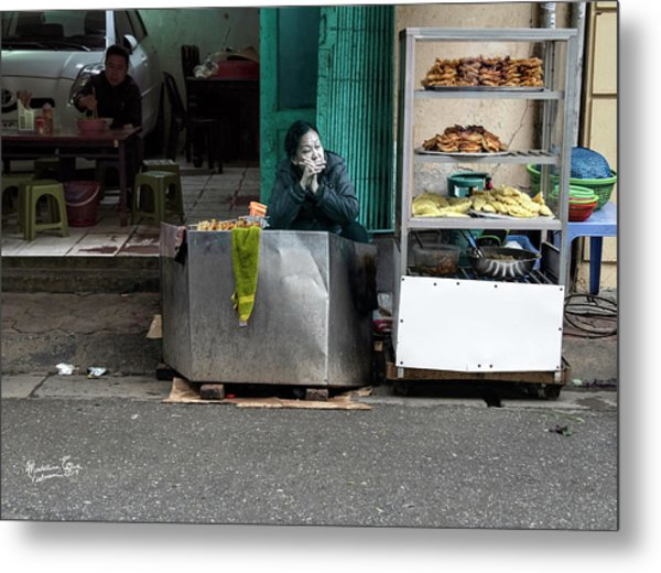 Lunch Time In Vietnam Metal Print