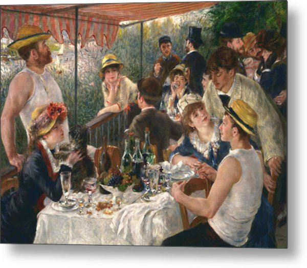 Luncheon Of The Boating Party, 1880-1881 Metal Print