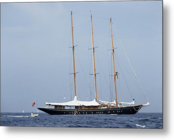 Luxury Yacht Metal Print
