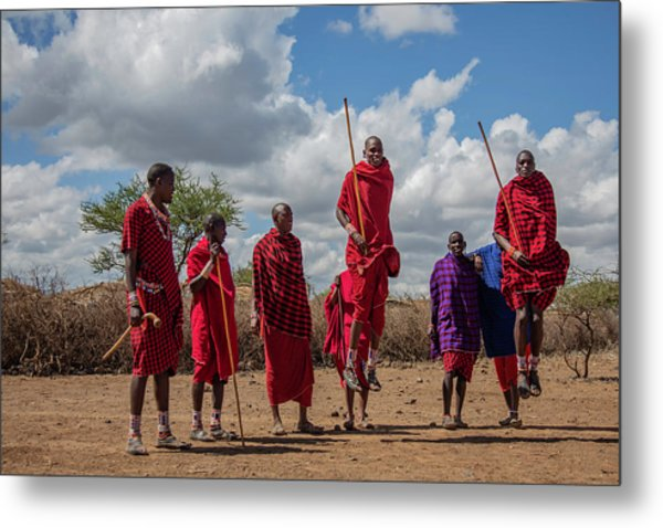Maasai Adumu Metal Print