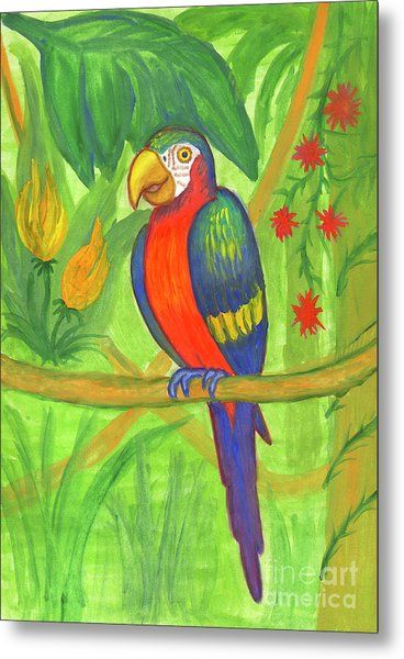 Macaw Parrot In The Wild Metal Print