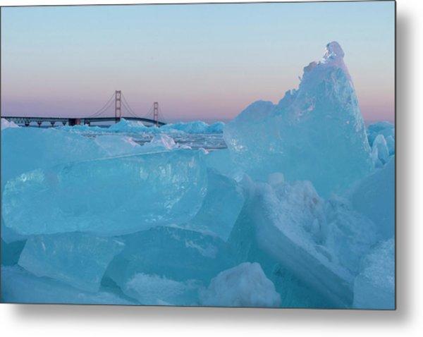 Mackinac Bridge In Ice 2161805 Metal Print