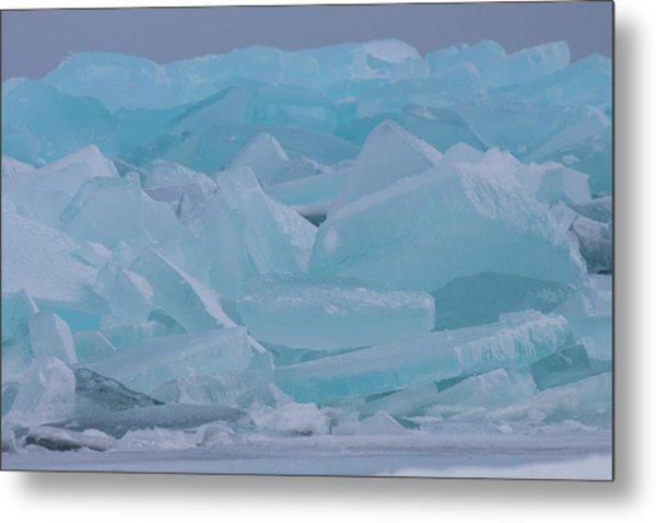 Mackinaw City Ice Formations 21618010 Metal Print