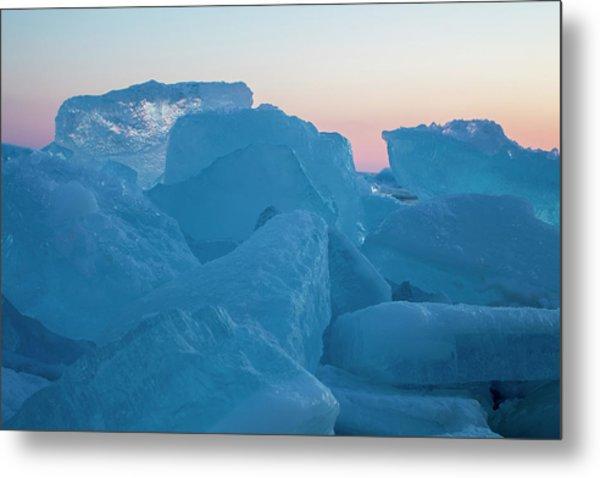 Mackinaw City Ice Formations 2161804 Metal Print
