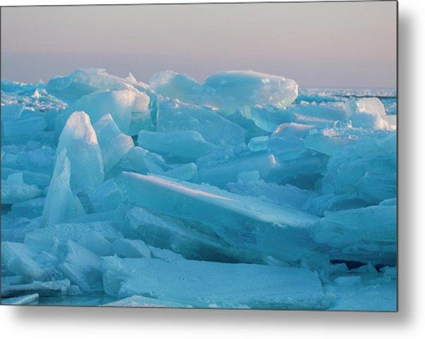 Mackinaw City Ice Formations 2161807 Metal Print